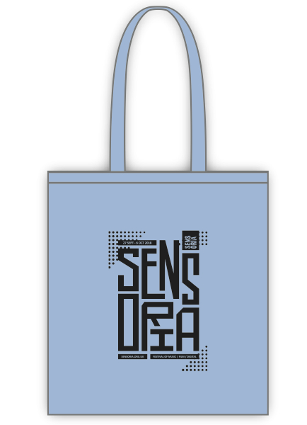 Sensoria Sky Blue Tote Bag
